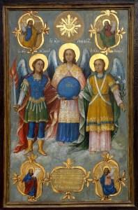 Икона Светих Архангела приложена Грачаници још у 19 веку а последњих деценија сакривена негде по собама Епископије ваљевске