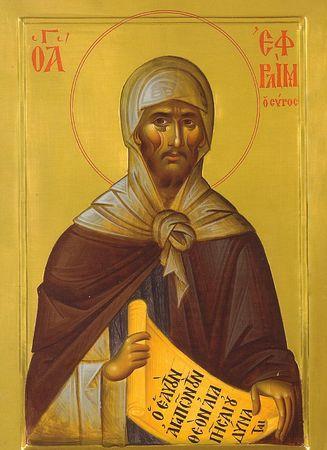 Резултат слика за Преподобни Јефрем Сирин: