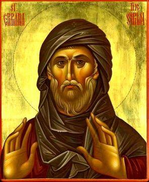 Резултат слика за Свети Јефрем Сирин: